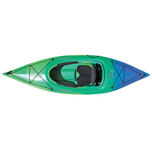 Saba 9.5 Sit-Inside Kayak, Lime/Blue
