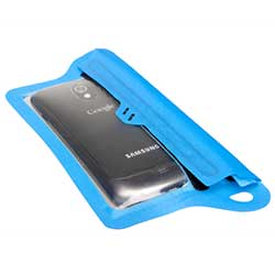 TPU Guide Waterproof Case for Smartphones, Blue
