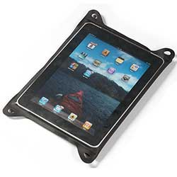 TPU Guide Waterproof Case for iPad, Black