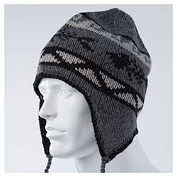 Wool Blend Flap Cap, Grey