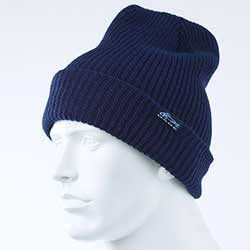 Gage Knitted Brim Beanie, Grey & Navy