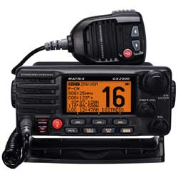 MATRIX GX2000 VHF Radio No AIS receiver-Requires external AIS