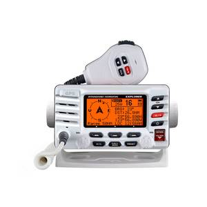 GX1700 Compact VHF with GPS, White