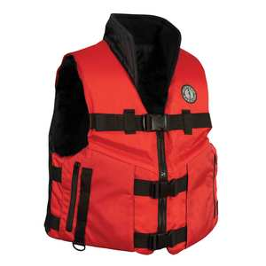ACCEL100 Fishing Life Jacket, XXL, Red