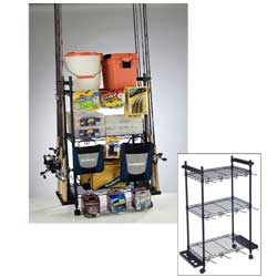 Tackle Trolley Rolling Wire Rack