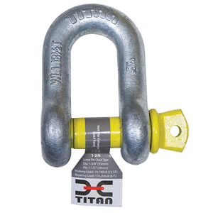"Galvanized ""D"" Shackles for Chain"