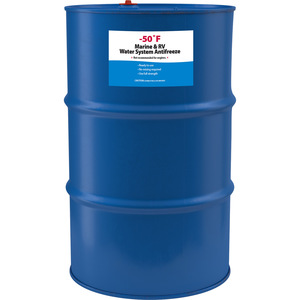 -50°F Marine & RV Water System Glycol/Alcohol Antifreeze, 55 Gallon Drum