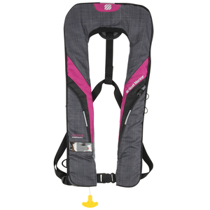 Coastal Automatic Inflatable Life Vest—Raspberry/Dark Gray