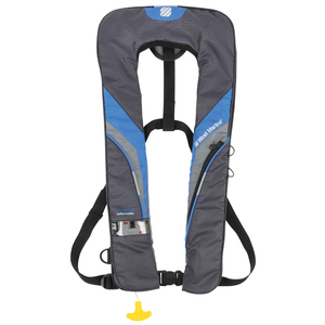 Coastal Automatic Inflatable Life Jacket—Royal Blue/Dark Gray