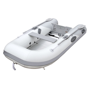 AL-290 Heavy-Duty Inflatable Sportboat, White/Gray Hypalon