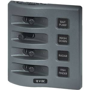 WeatherDeck® Waterproof Switch Only Panel—Four Position