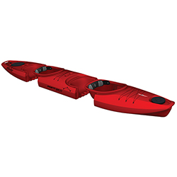 Martini GTX Tandem Modular Sit-Inside Kayak, Red