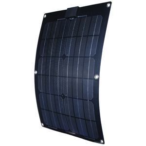 25W Semi-Flexible Monocrystalline Solar Panel