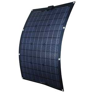 50W Semi-Flexible Monocrystalline Solar Panel