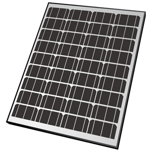 65W Rigid Monocrystalline Solar Panel