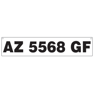 Registration Number Plates for Inflatable Boats
