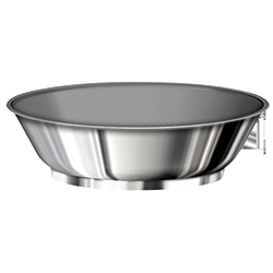 Nesting Ceramic Non-Stick Stainless Steel Wok/Saute Pan