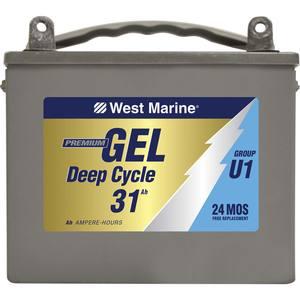 west marine gel deep cycle marine gel battery 31 6 amp hours group u 1 west marine. Black Bedroom Furniture Sets. Home Design Ideas
