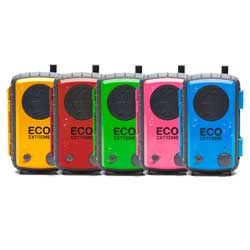 ECOEXTREME IPX7 Waterproof Case with Built-in Speaker, Red