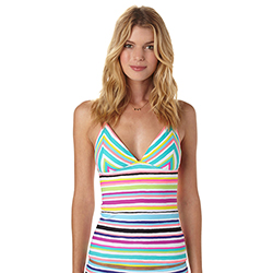 Women's Sun Kissed Tiki Tri Tankini Top