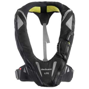 Automatic Inflatable DeckVest™ LITE Life Jacket, USCG-Approved, Black