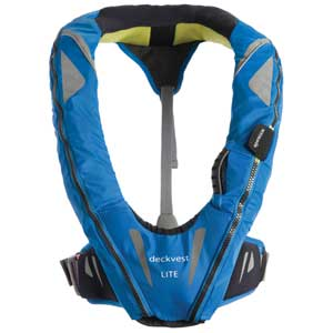 Automatic Inflatable DeckVest™ LITE, USCG Approved, Pacific Blue