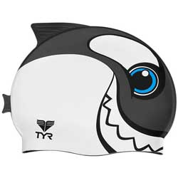 Kid's CharacTYR Happy Whale Swim Cap