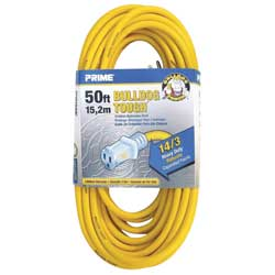 Extension Cord, Gauge 14/3,  50', Yellow