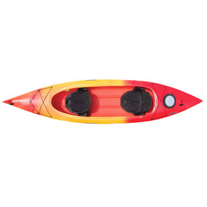 Saba 14.0 Sit-Inside Tandem Kayak, Red/Yellow