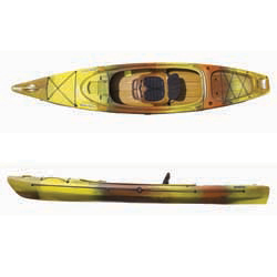 "12'6"" Bahama 12.5 Sit-Inside Angler Kayak, Yellow/Orange/Black"
