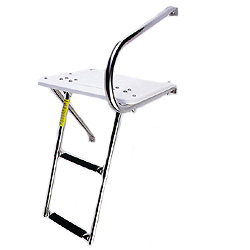 Outboard Transom Platform & Telescopic Ladder