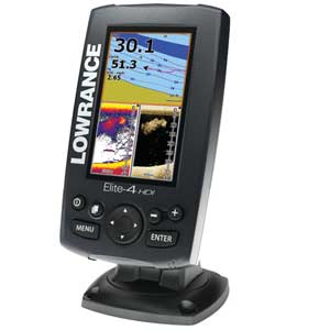 Elite-4 HDI Fishfinder/Chartplotter Combo with No Transducer