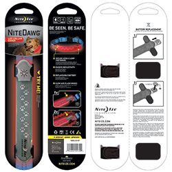 Nite Dawg LED Collar Cover, Grey