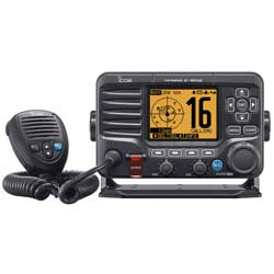 M506 Class D Marine Fixed-Mount VHF Radio with AIS Receiver, NMEA 2000, Rear Mic
