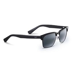 Maui Jim Kawika Sunglasses, Gloss Black/gray Frames with Antique Pewter/Neutral Grey Lenses