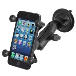 RAM Composite Twist Lock Suction Cup Mount with Universal X-Grip Cell Phone Holder