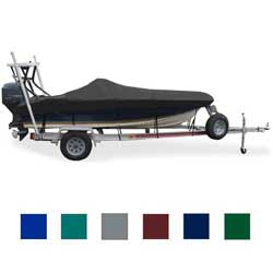 "Flats Boat Cover, OB, Black, Hot Shot, 18'6""-19'5"", 96"" Beam"