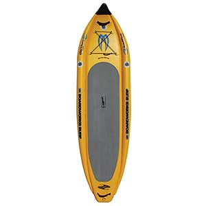 "11'6"" Badfish MCIT Inflatable Stand-Up Paddleboard, Yellow"