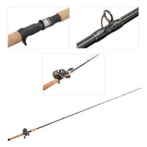 Baitcaster CVL-400 Reel with 7' Rod Combo