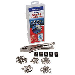95-Piece Premium Snap Kit with Locking Pliers