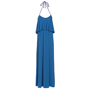 Women's Tambour Flounce Maxi Dress