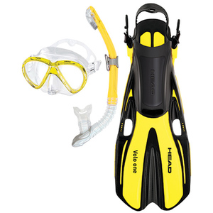 Marlin/Volo One Snorkel and Fin Set, Yellow