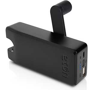 BoostTurbine 4000 Hand-Cranked USB Battery Pack—Black