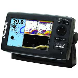 Elite-7 CHIRP Fishfinder/Chartplotter with 83/200 + 455/800kHz Transducer, Nav+ Cartography