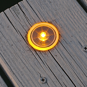 Solar Dock and Deck Dots, Amber, 4-Pack
