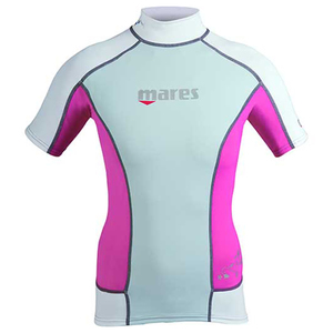 She Dives Short Sleeve Rashguard, Pink