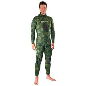 Instinct Two-Piece Wetsuit, Green Camouflage, 3.5mm