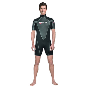 Men's Reef Shorty Wetsuits, Black/Gray, 2.5mm