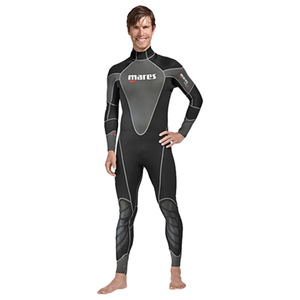 Men's Reef Long Wetsuits, Black/Gray, 2.5mm