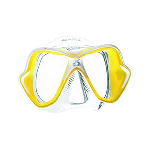 X-Vision LiquidSkin Dive Mask, Yellow/Clear